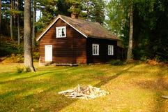 Ξύλινο σπίτι Telemark, Νορβηγία Στοκ Εικόνες