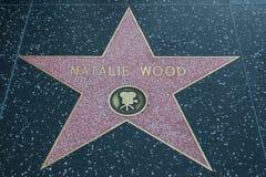 Ξύλινο σταρ του Χόλιγουντ της Natalie Στοκ εικόνα με δικαίωμα ελεύθερης χρήσης