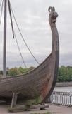 Ξύλινο στοιχείο Σκανδιναβικό Drakkar Σκάφος Βίκινγκ Στοκ Φωτογραφίες