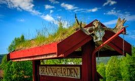 Ξύλινο στρατόπεδο baner Στοκ φωτογραφία με δικαίωμα ελεύθερης χρήσης