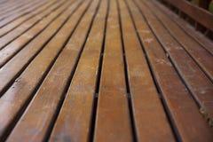 Ξύλινο σχέδιο ξυλείας υποβάθρου γεφυρών Στοκ Φωτογραφίες