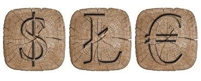Ξύλινο σύμβολο Στοκ Εικόνες