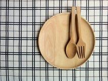 Ξύλινο σύνολο για το γεύμα Στοκ Εικόνες