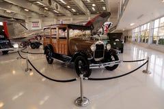 Ξύλινο το 1929 Ford διαμορφώνει ένα βαγόνι εμπορευμάτων σταθμών Στοκ εικόνα με δικαίωμα ελεύθερης χρήσης