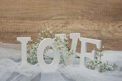 Ξύλινο υπόβαθρο αγάπης Στοκ Εικόνα