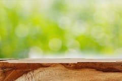 Ξύλινο υπόβαθρο θαμπάδων Στοκ Φωτογραφία