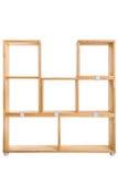 Ξύλινο υπόβαθρο κιβωτίων ή ραφιών Στοκ Εικόνες