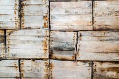 Ξύλινο υπόβαθρο κιβωτίων Στοκ εικόνες με δικαίωμα ελεύθερης χρήσης