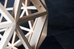 Ξύλινο υπόβαθρο δομών πολυγώνων Στοκ Φωτογραφίες