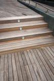Ξύλινο υπόβαθρο περίπτωσης σκαλοπατιών Στοκ Εικόνες