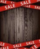 Ξύλινο υπόβαθρο πώλησης Στοκ Εικόνες