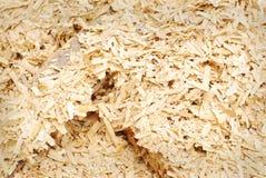 Ξύλινο υπόβαθρο σωρών πριονιδιού Στοκ Εικόνα
