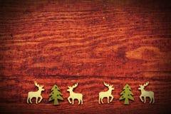 Ξύλινο υπόβαθρο Χριστουγέννων Στοκ εικόνες με δικαίωμα ελεύθερης χρήσης