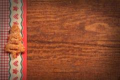 Ξύλινο υπόβαθρο Χριστουγέννων Στοκ Εικόνα