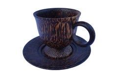 Ξύλινο φλυτζάνι καφέ Στοκ Εικόνα