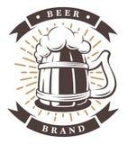 Ξύλινο φλυτζάνι της μπύρας Στοκ Εικόνες