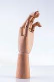 Ξύλινο χέρι Στοκ Εικόνες