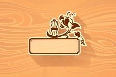 Ξύλινο χαρτόνι απεικόνιση αποθεμάτων