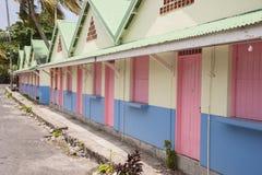 Ξύλινο χρωματισμένο σπίτι Στοκ Εικόνες