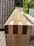 Ξύλινο armrest του ινδικού καλάμου πολυθρόνων Στοκ φωτογραφίες με δικαίωμα ελεύθερης χρήσης