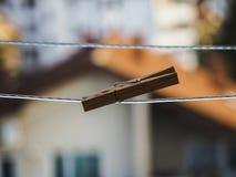 Ξύλινο clothespin στοκ εικόνες