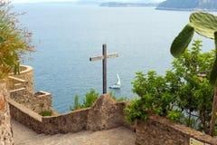Ξύλινο crucifix στο Aragonese Castle Στοκ Εικόνες