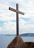 Ξύλινο crucifix στο Aragonese Castle Στοκ φωτογραφία με δικαίωμα ελεύθερης χρήσης