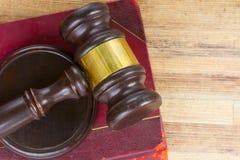 Ξύλινο Gavel νόμου Στοκ εικόνα με δικαίωμα ελεύθερης χρήσης