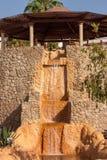 Ξύλινο gazebo με έναν καταρράκτη, Αίγυπτος Στοκ φωτογραφία με δικαίωμα ελεύθερης χρήσης