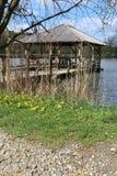 Ξύλινο gazebo στη λίμνη κοντά στην πόλη Velehrad στοκ φωτογραφίες με δικαίωμα ελεύθερης χρήσης