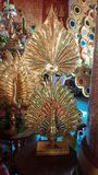 Ξύλινο Peacock στοκ εικόνες με δικαίωμα ελεύθερης χρήσης