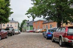 Ξύλινο porvoo σπιτιών Στοκ Εικόνες