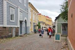 Ξύλινο porvoo σπιτιών Στοκ Φωτογραφία