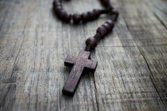 Ξύλινο Rosary Στοκ Εικόνα