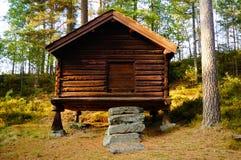 Ξύλινο stabbur από Telemark, Νορβηγία Στοκ Εικόνες