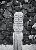 Ξύλινο Tiki (B&W) Στοκ φωτογραφίες με δικαίωμα ελεύθερης χρήσης