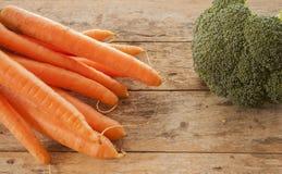 Ξύλο μπρόκολου καρότων στοκ εικόνες