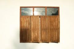 Ξύλο παραθύρων στην Ταϊλάνδη Στοκ εικόνα με δικαίωμα ελεύθερης χρήσης