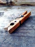 Ξύλο clothespin Στοκ φωτογραφία με δικαίωμα ελεύθερης χρήσης