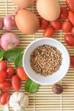 Ξύλο Tamato αυγών τροφίμων Στοκ Εικόνες
