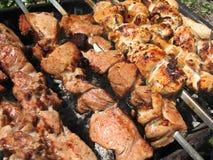 οβελίδια κρέατος Στοκ φωτογραφία με δικαίωμα ελεύθερης χρήσης