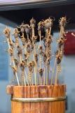 Οβελίδια σκορπιών στην αγορά νύχτας Wangfujing, Πεκίνο, Κίνα στοκ φωτογραφία με δικαίωμα ελεύθερης χρήσης