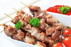 οβελίδια χοιρινού κρέατος Στοκ εικόνες με δικαίωμα ελεύθερης χρήσης