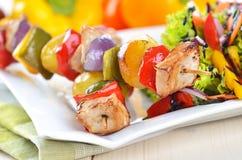 Οβελίδια Shish kebab στοκ εικόνες με δικαίωμα ελεύθερης χρήσης