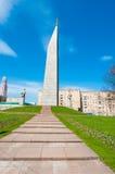Οβελίσκος ` Μόσχα - πόλη ηρώων στην οδό Kutuzovsky Prospekt Στοκ Εικόνα