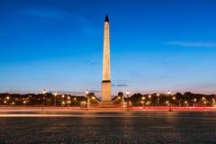 Οβελίσκος Luxor που δημιουργείται από το 1836 στο κέντρο του μέρους de Λα Concorde στο Παρίσι, Γαλλία Στοκ εικόνες με δικαίωμα ελεύθερης χρήσης