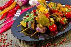 οβελοί κρέατος Στοκ Εικόνες