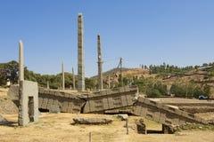 Οβελίσκοι παγκόσμιων κληρονομιών της ΟΥΝΕΣΚΟ Axum, Αιθιοπία Στοκ φωτογραφία με δικαίωμα ελεύθερης χρήσης