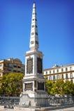 Οβελίσκος στο plaza de Λα Merced (πλατεία Merced) στη Μάλαγα, Ισπανία Στοκ φωτογραφία με δικαίωμα ελεύθερης χρήσης