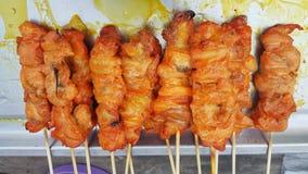 Οβελίδια κοτόπουλου σχαρών Στοκ Εικόνες